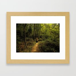 Come Walk With Me Framed Art Print