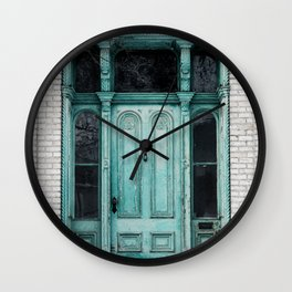 Turquoise Door Photography Wall Clock