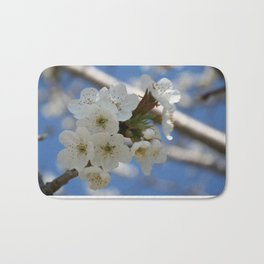Beautiful Delicate Cherry Blossom Flowers Bath Mat