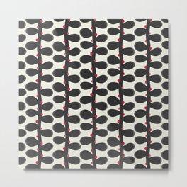 Like a Leaf [red spots] Metal Print