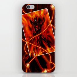 Fire and flames iPhone Skin