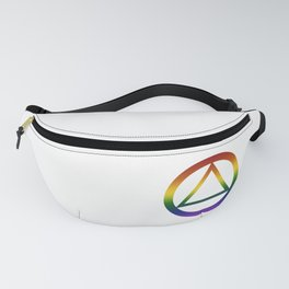 Alcoholics Anonymous Rainbow Pride Symbol Fanny Pack