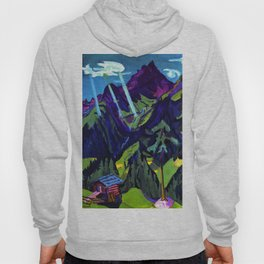 Mountain Landscape in the Sun by Ernst Ludwig Kirchner Hoody