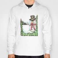 snowman Hoodies featuring Snowman... by Saltz
