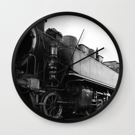 old steam locomotive Wall Clock