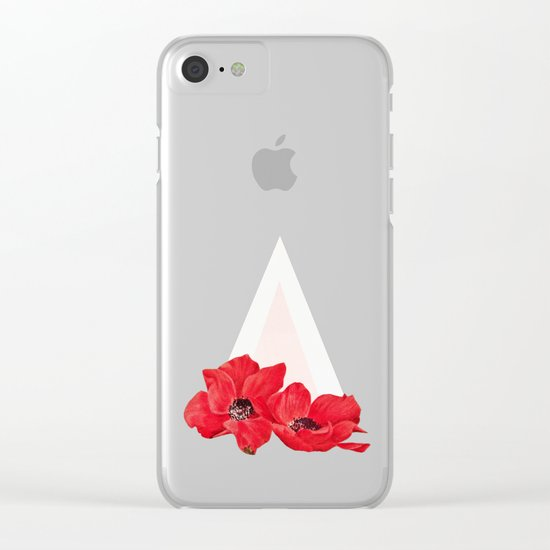 Floral Triangle Clear iPhone Case