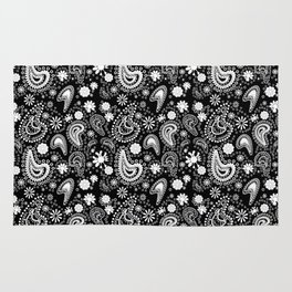 Paisley Power Black and White Rug