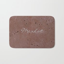 Merlot Wine Red Travertine - Rustic - Rustic Glam Bath Mat