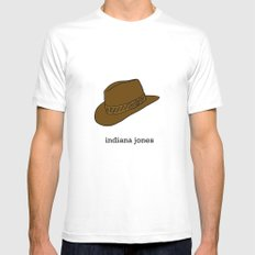 Indiana Jones MEDIUM White Mens Fitted Tee