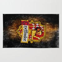 gryffindor Area & Throw Rugs featuring Gryffindor team flag iPhone 4 4s 5 5c, ipod, ipad, pillow case, tshirt and mugs by Three Second