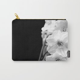 Daffodils in B&W Carry-All Pouch