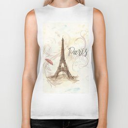 The Eiffel Tower ,-  Love in Paris Biker Tank