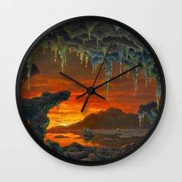 Classical Masterpiece 'Maquette pour un Décor Grotte Arctique' by Ivan Fedorovich Choultsé Wall Clock