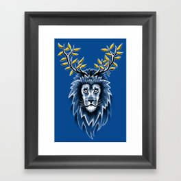 Deer Lion Framed Art Print