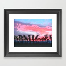 Coachella Sunset Framed Art Print