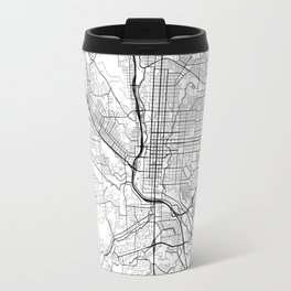 Colorado Springs Map White Travel Mug