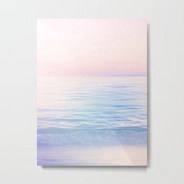 Dreamy Pastel Seascape 2. Blue & Nude #pastelvibes #Society6 Metal Print