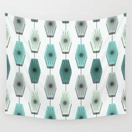 Mid Century Modern Pattern Wall Tapestry