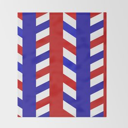 Striped Red Blue Pattern Throw Blanket