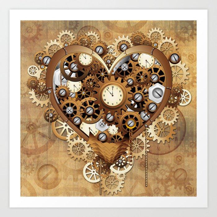 Steampunk Heart Love Kunstdrucke