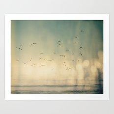 Where The Sky Meets The Sea  Art Print