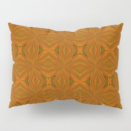 Autumnal Leaves Red Green and Amber Abstract Pattern Pillow Sham