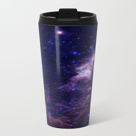gAlAXY Purple Blue Metal Travel Mug