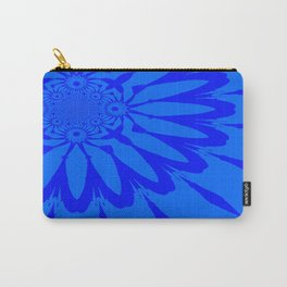 The Modern Flower Blue on Blue Carry-All Pouch