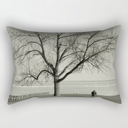 The Tree and The Man Rectangular Pillow