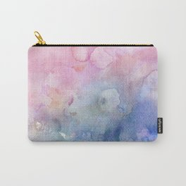Pastel Pink And Blue Painted Surface Colorful Watercolor Carry-All Pouch