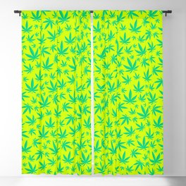 Weed Pattern Blackout Curtain