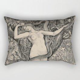Eve And The Serpent Rectangular Pillow