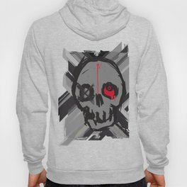 Skull with one eye red Hoody
