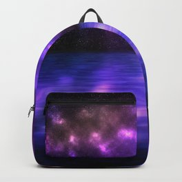 Water surface with Galaxy Backpack