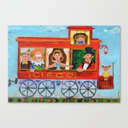 The Cabus of my Daughters' Circus Train El Cabus del Tren del Circo de mis Hijas Canvas Print