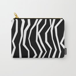 Wavy zig zag lines edgy black and white Carry-All Pouch