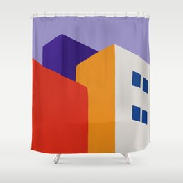 Urban Block Shower Curtain