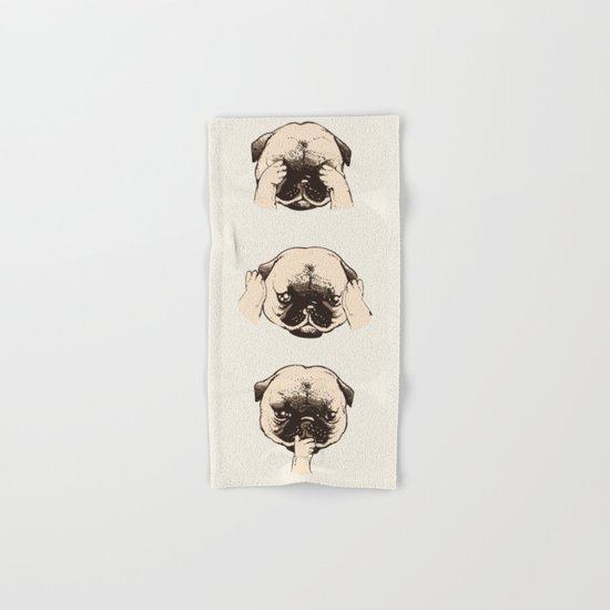 No Evil Pug  Hand & Bath Towel