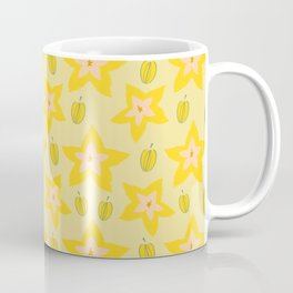 Cute Star Fruit Pattern Coffee Mug