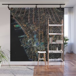 Lower Manhattan Street-view Landscape Painting by Jeanpaul Ferro Wall Mural