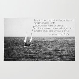 Proverbs 3 Nautical Rug
