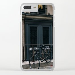 Paris Bicycle III Clear iPhone Case