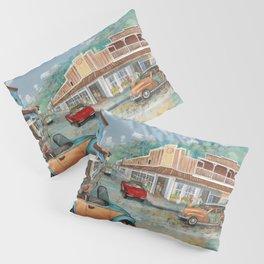 Vintage Lahaina Town Fine Art Decor Pillow Sham