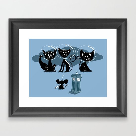 Doctor WHOops, wrong planet! Framed Art Print