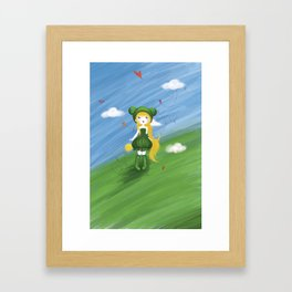 La princesse grenouille au ballon d'or Framed Art Print