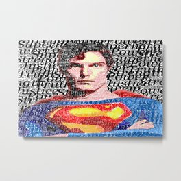 Superman Man of Tomorrow Metal Print