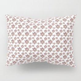 Star of David Red Pattern Pillow Sham