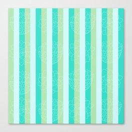 Budding Stems Pattern Canvas Print