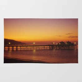 Malibu Pier Sunset * Southern California Rug