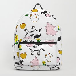 The Farm Pattern Backpack